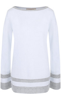 Пуловер с контрастной отделкой и вырезом-лодочка D.Exterior