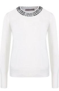 Шерстяной пуловер с круглым вырезом D.Exterior