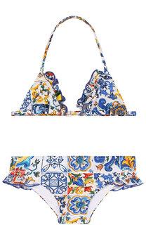 Раздельный купальник с оборками Dolce & Gabbana
