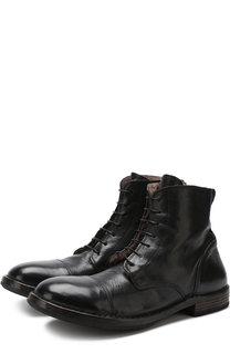 Высокие кожаные ботинки с внутренней меховой отделкой Moma