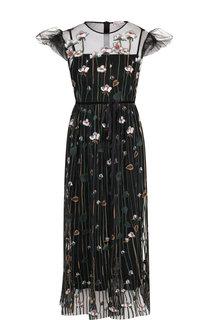 Приталенное платье-миди и декоративной вышивкой REDVALENTINO