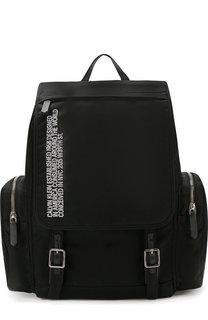 Текстильный рюкзак с внешними карманами на молнии CALVIN KLEIN 205W39NYC