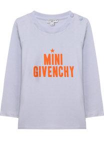 Хлопковый лонгслив с надписью Givenchy