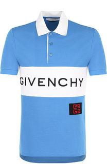 Хлопковое поло с короткими рукавами Givenchy