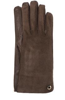Перчатки Jacqueline из кожи и замши Loro Piana