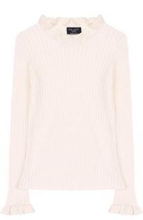 Пуловер из смеси хлопка и кашемира фактурной вязки Dal Lago
