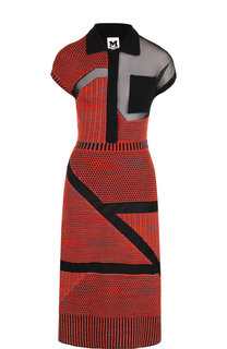 Вязаное платье-миди с полупрозрачными вставками M Missoni
