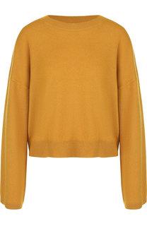 Однотонный кашемировый пуловер со спущенным рукавом Theory