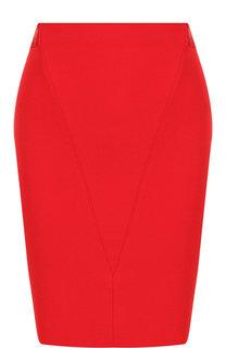 Однотонная мини-юбка на молнии Givenchy