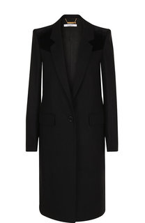 Однотонное пальто прямого кроя на пуговице Givenchy