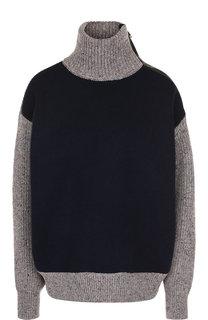 Пуловер из смеси шерсти и кашемира с воротником-стойкой Givenchy