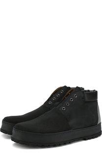 Высокие ботинки из нубука Premiata
