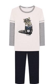 Хлопковая пижама La Perla