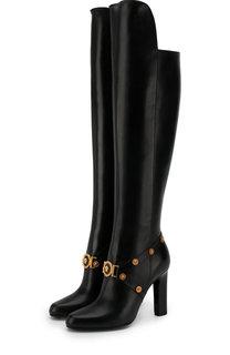 Кожаные сапоги Tribute на устойчивом каблуке Versace
