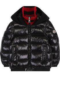 Стеганая куртка на молнии с капюшоном Moncler Enfant