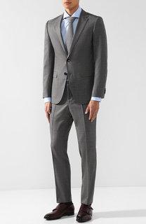 Шерстяной костюм с однобортным пиджаком BOSS