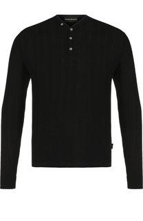 Однотонный шерстяной пуловер Emporio Armani