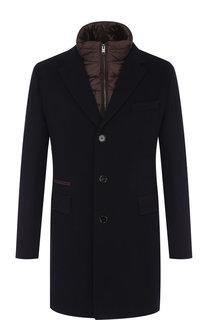 Однобортное шерстяное пальто с подстежкой BOSS