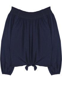 Хлопковая блуза с открытыми плечами Polo Ralph Lauren