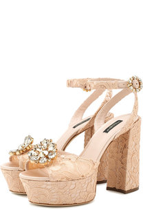 Босоножки Keira на устойчивом каблуке и платформе Dolce & Gabbana