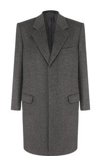 Однотонное шерстяное пальто Brioni