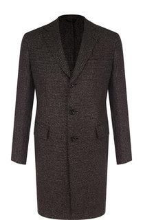 Однобортное пальто из кашемира Brioni