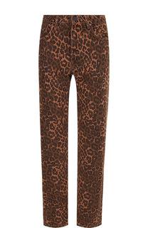 Укороченные джинсы прямого кроя с принтом Denim X Alexander Wang