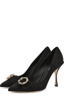 Замшевые туфли Lori на шпильке Dolce & Gabbana