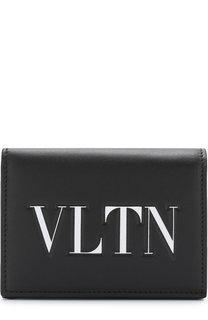 Кожаный кошелек с принтом Valentino Garavani Valentino