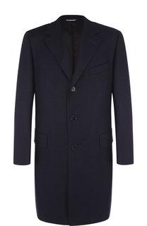 Шерстяное однобортное пальто Canali