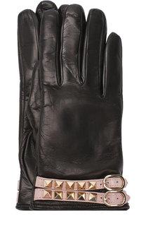 Кожаные перчатки Valentino Garavani Rockstud Valentino