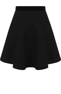 Однотонная вязаная мини-юбка Emporio Armani