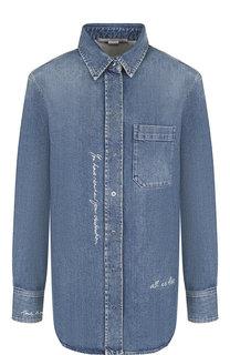 Джинсовая блуза с накладным карманом Stella McCartney
