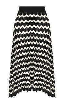 Шерстяная юбка-миди с принтом Stella McCartney