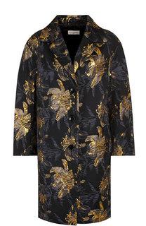 Пальто со спущенным рукавом и принтом Dries Van Noten