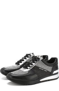 Комбинированные кроссовки Allie на шнуровке MICHAEL Michael Kors
