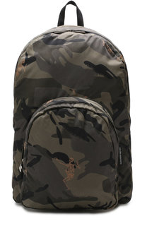 Текстильный рюкзак с внешним карманом на молнии Alexander McQueen