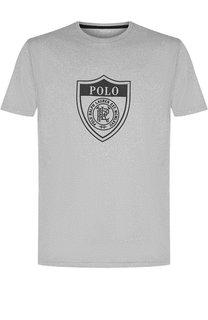 Однотонная футболка с принтом Polo Ralph Lauren