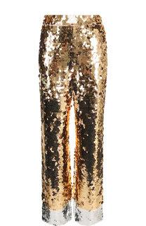 Укороченные брюки с декоративной отделкой No. 21