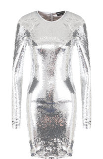 Платье-футляр с длинным рукавом и пайетками Tom Ford