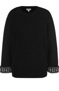 Вязаный пуловер из смеси хлопка и шерсти Kenzo