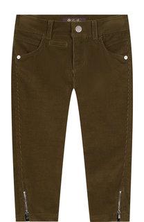 Вельветовые брюки с молниями Loro Piana