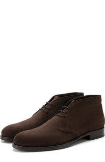 Высокие кожаные ботинки на шнуровке Tod's Tods
