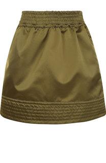 Однотонная мини-юбка с эластичным поясом No. 21