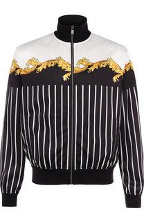 Кардиган на молнии с принтом Versace