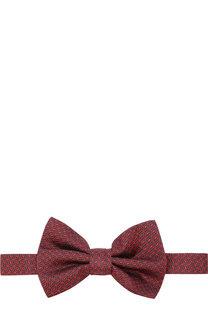 Шелковый галстук-бабочка с узором Emporio Armani