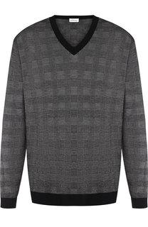 Кашемировый пуловер в клетку Brioni