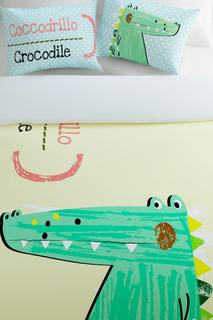 Постельное белье 1,5 сп Счастливый крокодил Сирень