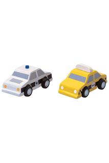 Набор машинок Такси и полиция Plan Toys