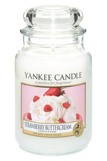 Свеча Клубника со сливками YANKEE CANDLE